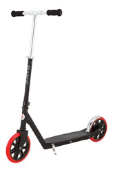 Carbon Lux Special Edition Kick Scooter Extra Large Wheels Foam Gripsandndash Black/red