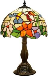 Classical Style Table Lamp Antique Stained Glass Shade Lamp Nightst