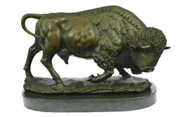 Extra Lrge Barye Bronze Bison Buffalo American Western South West Sculpture Deal
