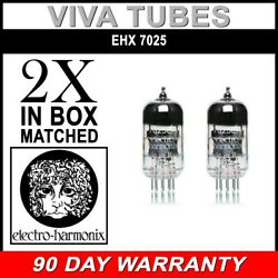 New Gain Matched Pair Electro-harmonix 7025 Low Noise 12ax7 Vacuum Tubes
