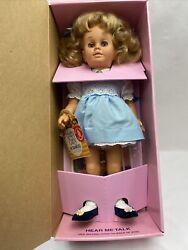 1998 Mattel's Classics Chatty Cathy Doll Reproduction Mint In Box 19225/681