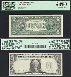 1 1988-a Overprint On Back, No Sn Or Seal On Face Pcgs Very Choice New 64 Ppq