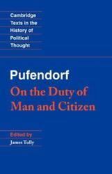 Pufendorf On The Duty Of Man And Citizen According To Natural Law 9780521359801