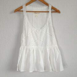 Current Elliot White Lace Tank Top Size Large