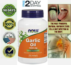 1500mg Usa Most Powerful Antibiotic Heal All Infection Herbal Pills Pure Garlic