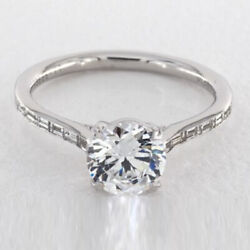 Real Diamond Round Cut 1.17 Ct Wedding Solitaire Rings 14k White Gold Size 7 8 9