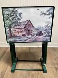 Vintage Coca-cola Tv Trays And Stand - Mike's Garage