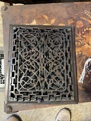 Ted8 Antique Wall Mount Heat Grate Cleaned 11 3/8 X 13 3/8