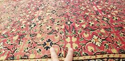 Exquisite Antique 1940s Wool Pile Natural Color Legendary Hereke Rug 6and0396andtimes9and0399