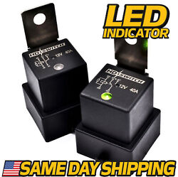 2 Pack Waterproof Relay Fits Hella 4rd-960388-31 - 4rd 960 388-22 W/ Led