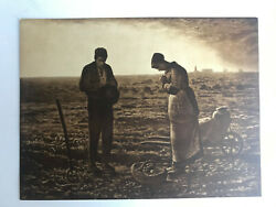 Antique Taber Prang Springfield, Ma Litho The Angelus Number 952 12 X 9