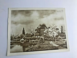 Antique Taber Prang Springfield, Ma Litho Apple Blossoms Number 213 12 X 9