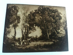 Antique Taber Prang Springfield Ma Litho Dance Of The Nymphs Number 2000 12x 9