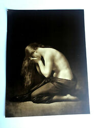 Antique Taber Prang Springfield Ma Litho The Weeping Magdalen 5165 12x 9
