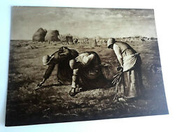Antique Taber Prang Springfield Ma Litho The Gleaners Number 2058 12x 9