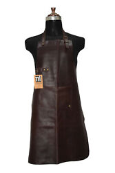 Brown Real Leather Apron Butcher Apron -cook Apron -bbq Apron -cooking Apron