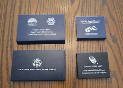 Four Proof And Bu Silver Half And Dollar Commemorative Coins Baseball, Scouts ++