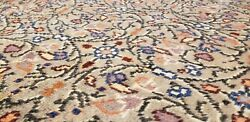 Stunning Antique Wool Pile Olive Green Hereke Area Rug 6and0396andtimes9and0396