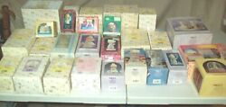 Lot 27 Assorted Enesco Precious Moments Figurines In Boxes No Chips Cracks