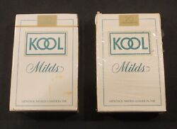 Vintage Kool Milds Cigarettes Playing Cards Opened Unopened Lot Of 2