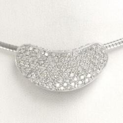 Jewelry 18k White Gold Necklace Diamond 1.40 0.52 Free Shipping Used
