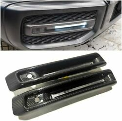 Mercedes-benzg63 G-wagon W463a Amg Style Front Bumper Fog Lights Covers Led Set