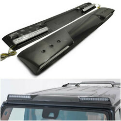 Mercedes Brabus Style W463a W464 G-wagon Front Roof Carbon Spoiler With Leds