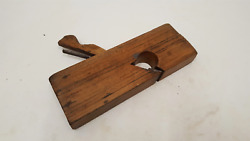 9 1/2 X 1 1/4 Malloch And Sons Perth Skew Wooden Rebate Plane 37519