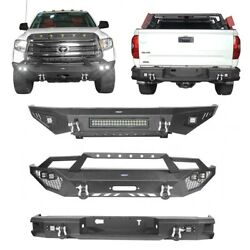 Full Width Front Bumper Or Rear Bumper Bars W/led Lights For 14-21 Toyota Tundra