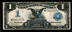 1899 1 Black Eagle Silver Certificate Large Size Note
