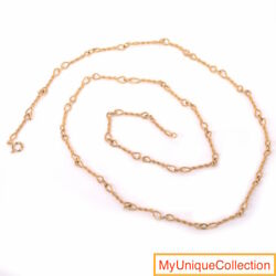 Uno A Erre 14k Yellow Gold Rope Link Chain Necklace 36 3/4 Inches