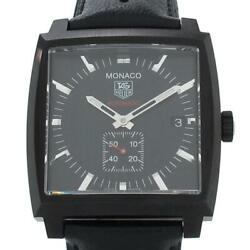 Auth Tag Heuer Watch Monaco Ww2119 Cal.6 Automatic Case 37mm Date F/s