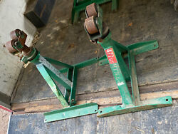 2x Greenlee 656 28- 46 Ratchet Type Reel Jack Stand Tugger Puller Cable Wire