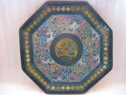 Mexican Olinala Tray Beautiful Colorful Signed By Its Author Dagoberto