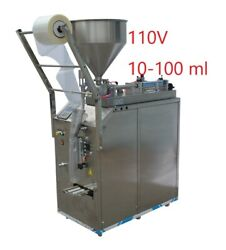 110v 10-100ml Automatic Quantitative Paste Liquid Filling Machine Food Grade Usa