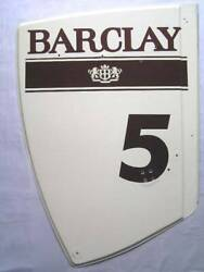 Williams Judd Fw12 Rear Wing Endplate 1988 N.mansell No.5 Barclay Display