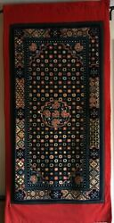 Antique Tibetan Rug Carried Over The Himalayas. Sold To Me In Dharamsala 1973.