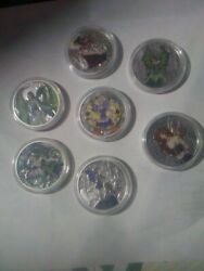 Amy Brown Colorized Coins .999 Silver Complete Set Of 7 Coins All Have C.o.a