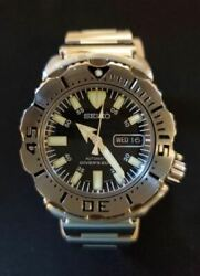 Vintage Seiko Diverand039s 7s26-0350 Analog Menand039s Watch Automatic Used Authentic