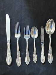 Towle King Richard Sterling Flatware Set For 4 With 6 With Large Oval Soups