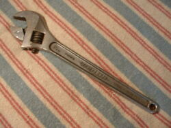 """Vintage Diamalloy 15"""" Adjustable Wrench Made In Usa Forged Steel Diamond Calk"""