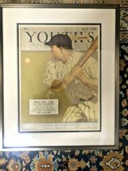 Babe Ruth Cover April 1929 Youth's Companion Magazine Rare Framed