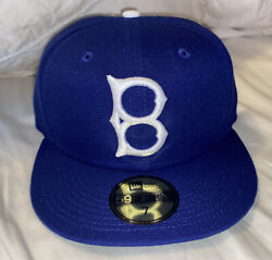 Brooklyn La Dodgers New Era Cooperstown 5950 59fifty Blue Fitted Hat Cap Size 7