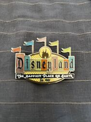 Disneyland 50th Anniversary Happiest Place On Earth Marquee Retro Trading Pin