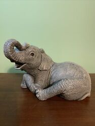 Rare Vintage Martha Carey The Herd Elephant Chat 2105 Marty Sculptures 1985