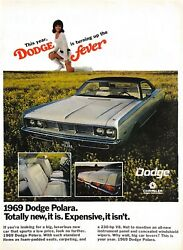 1968 Dodge Polara Vintage Print Ad New 1969 Turning Up The Fever Go Go Boots