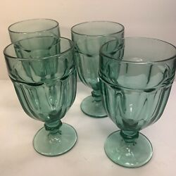 4 Duratuff Libbey And039and039gibraltarand039and039 Goblets 6 7/8and039and039
