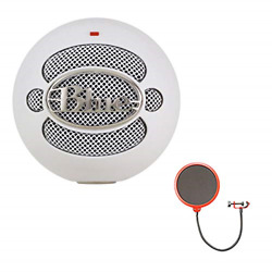 Blue Microphones 4911-sbbn Snowball Usb Microphone Textured White Bundle With