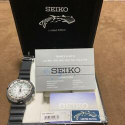 Auth Seiko Watch Tuna Can Diver Zimbe 3rd 2016 Thailand Limited F/s