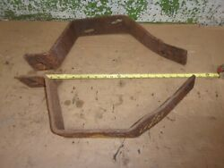 1956 Cadillac Sedan Deville Ht Front Bumper Brackets Left And Right 56 Oem